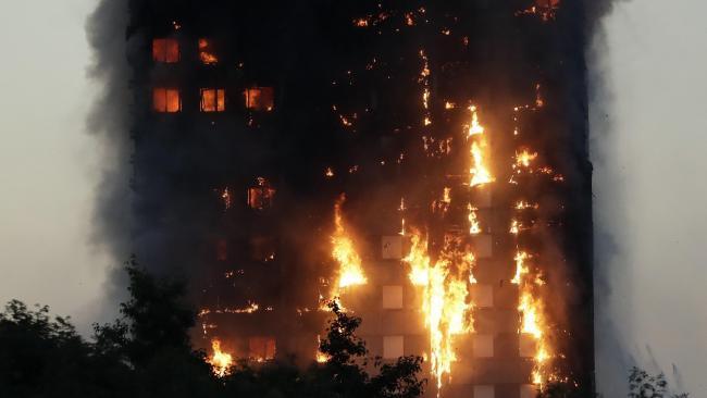 Huge fire engulfs 27-story London tower block, people injured