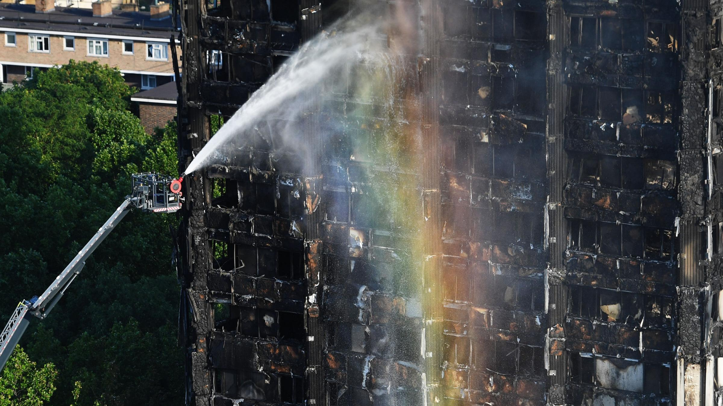 Firefighters Respond to Fire Engulfing London Apartment